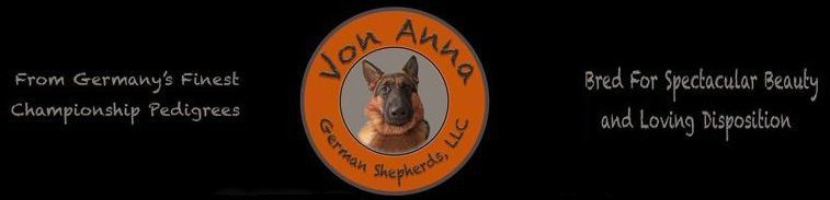 Von Anna Purebred German Shepherds - Logo